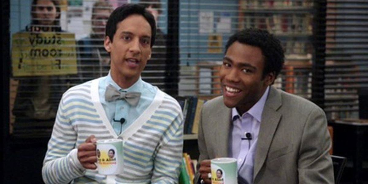 Troy and Abed on their talk show in Community.