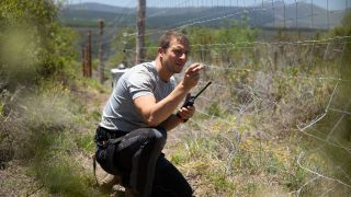 Bear Grylls on location for Netflix's interactive show Animal on the Loose: You Vs Wild.