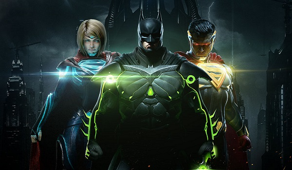 Supergirl, Batman and Superman in Injustice 2