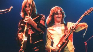 Tom Scholz [left] and Barry Goudreau put together one of their immaculate guitar harmonies