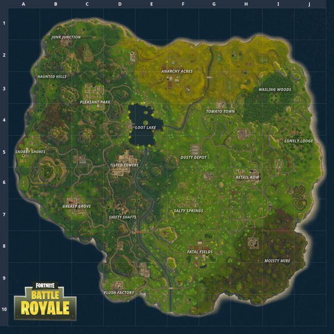 Fortnite Battle Royale's New Map