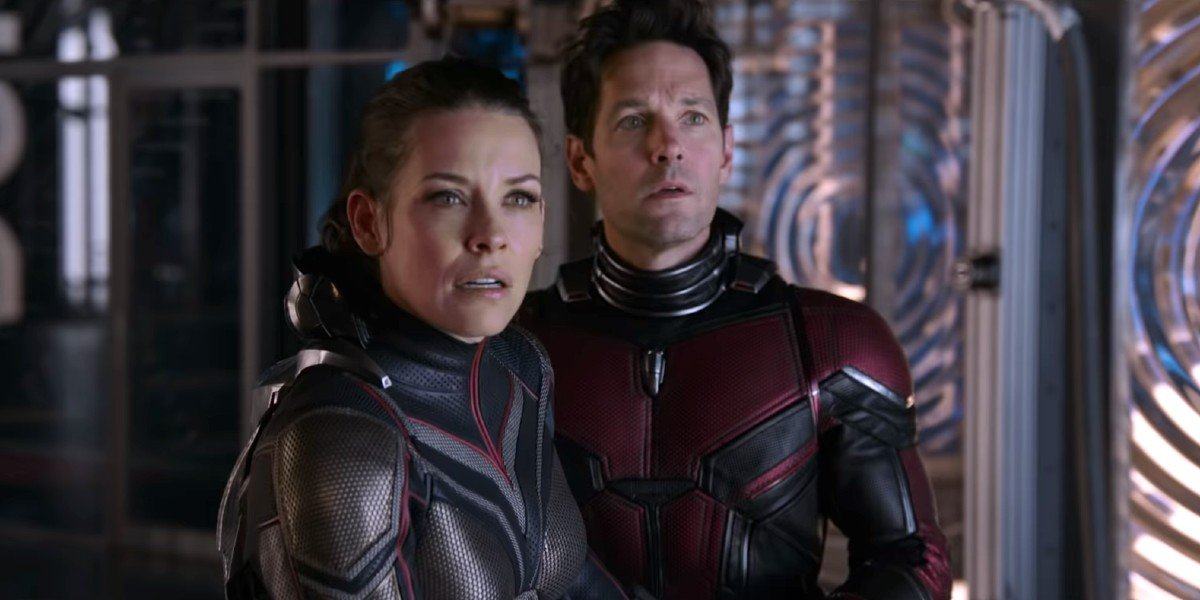 Evangeline Lilly as Hope van Dyne/Wasp and Paul Rudd as Scott Lang/Ant-Man in Ant-Man and the Wasp (2018)