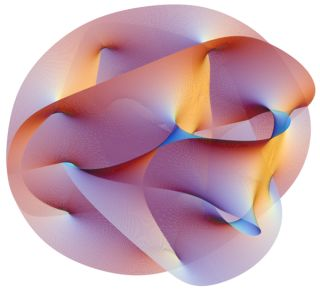 Visualization fo a Calabi-Yau manifold
