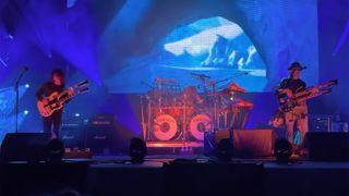 Primus performing live