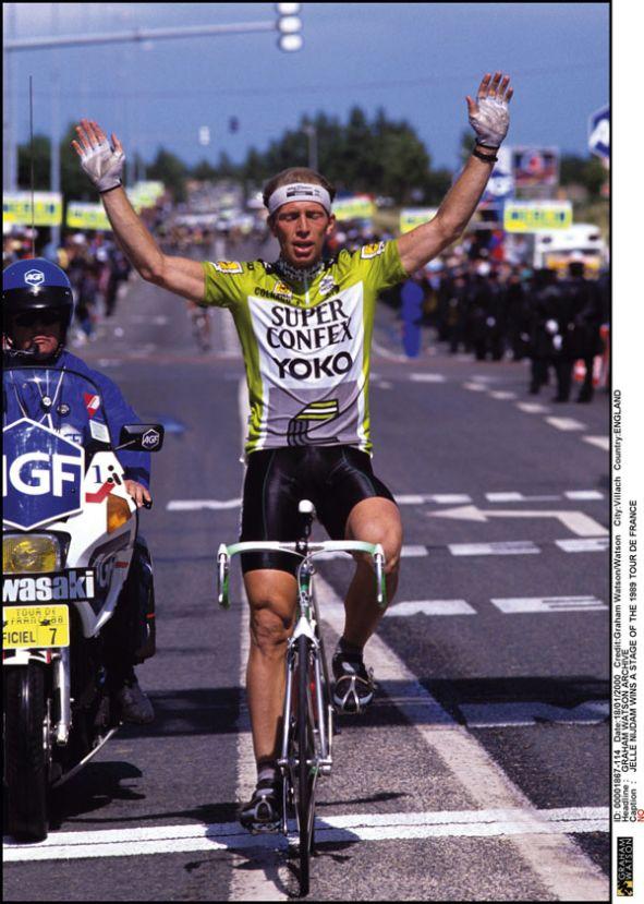 Jelle Nijdam 1989 Tour de France stage 14 Nijdam repeats in Gap