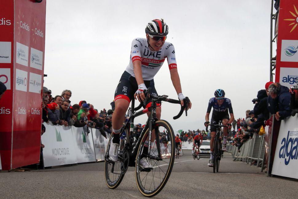 Tadej Pogacar wins on the Alto da Foia at the 2019 Volta ao Algarve.
