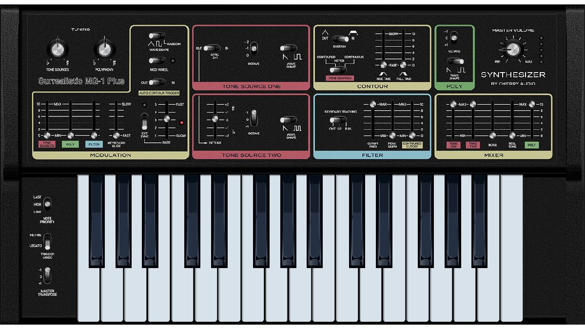 Cherry Audio picks out a RadioShack classic with its new Surrealistic MG-1 Plus synth plugin and its free for a limited time