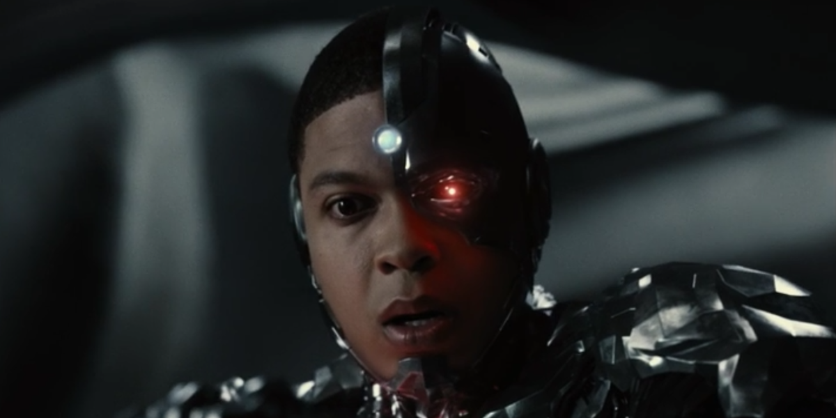 Victor Stone/Cyborg stares down in Zack Snyder's Justice League (2021)