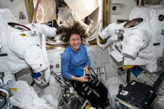 NASA astronaut Christina Koch holds the agency's current record for the single longest spaceflight by a woman.