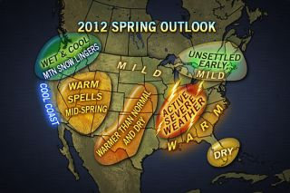 US map shows what regions will see warm weather and severe storms this spring