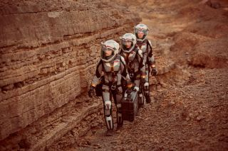 Mars colonists perform an EVA natgeo movie