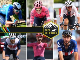 Composite image of the USA men's team for the UCI Road World Championships elite races
