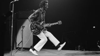 Chuck Berry performs at Madison Square Garden in New York City, 15th October 1971