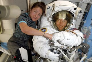 Historic Women Spacewalkers Hope to Land on the Moon