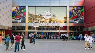 A general view of the Universal Cinema AMC busy with moviegoers on Memorial Day at CityWalk at Universal Studios Hollywood on May 31, 2021 in Universal City, Calif.