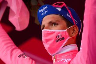 Giro dItalia 2020 103rd Edition 15th stage Base Aerea Rivolto Frecce Tricolori Piancavallo 185 km 18102020 Joao Almeida POR Deceuninck Quick Step photo Dario BelingheriBettiniPhoto2020