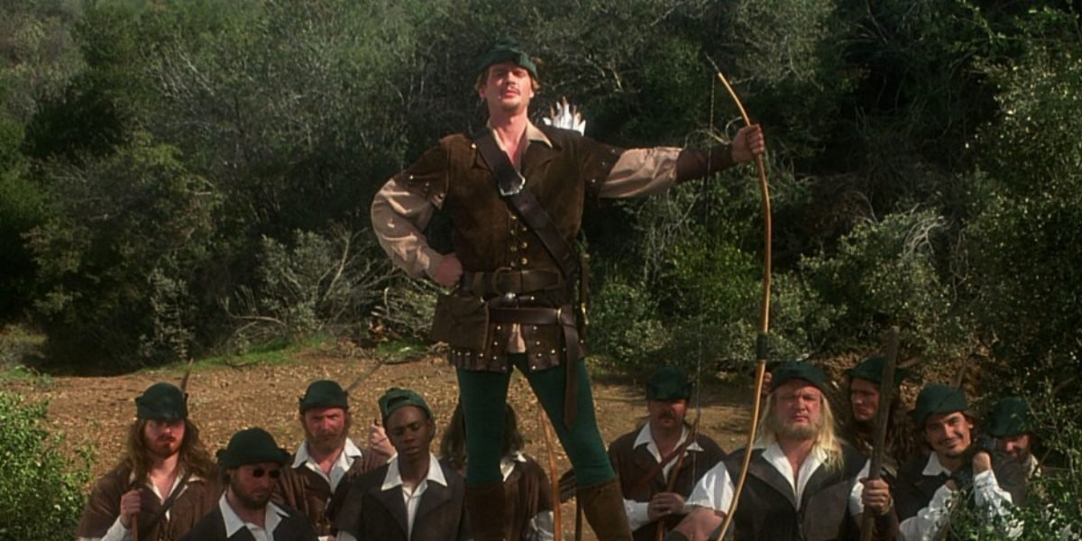 Cary Elwes and his merry men in Robin Hood: Men in Tights