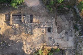 A bird's-eye view of the temple, taken at the end of the 2013 excavation season.