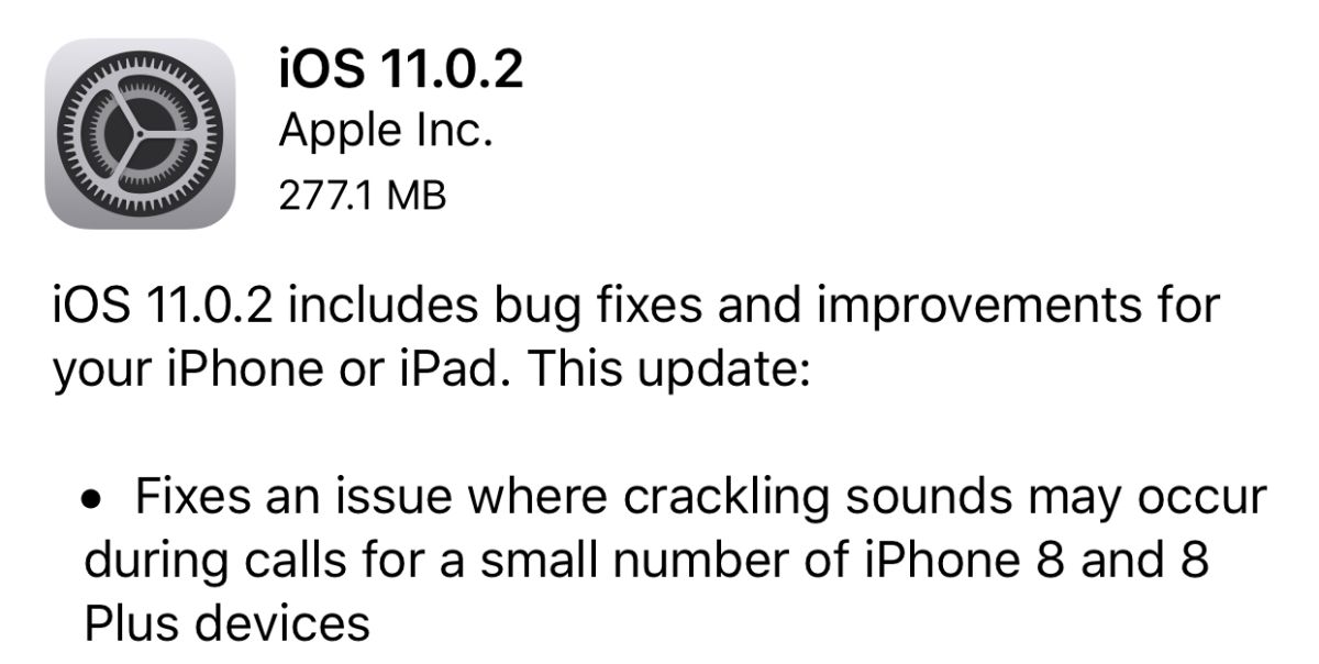 Apple Delivers iOS Update to Fix iPhone 8 Audio Problem