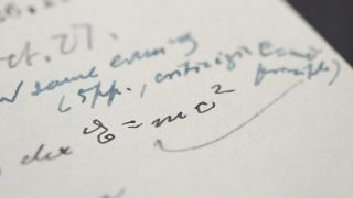 A close-up of the handwritten equation, one of just four known examples , in the letter.