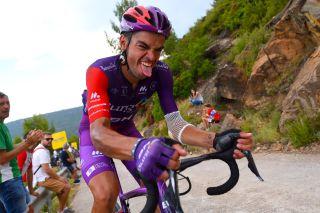 Nuno Bico (Burgos BH) suffers in the Vuelta a Espana