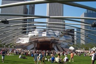 Art and Sound Crisscross Pritzker Pavilion