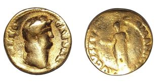 rare aureus coin of emperor nero