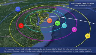 NASA Visibility Map: Antares and Cygnus Launch