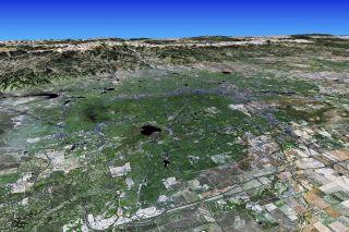 Satellite imagery of Denver.
