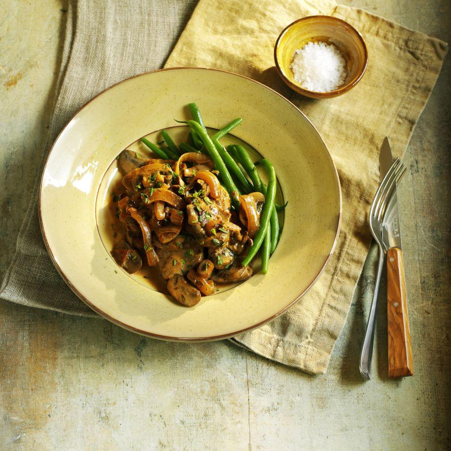 Pork Tenderloin with Mushrooms, Cream and Cider Recipe