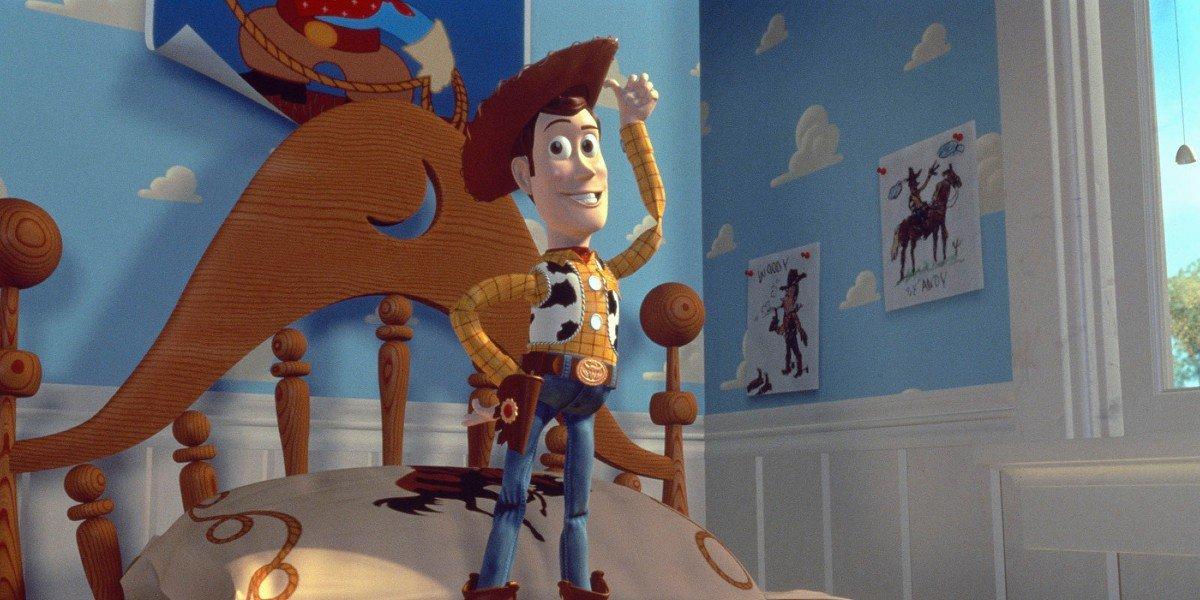 Tom Hanks as Woody in Toy Story