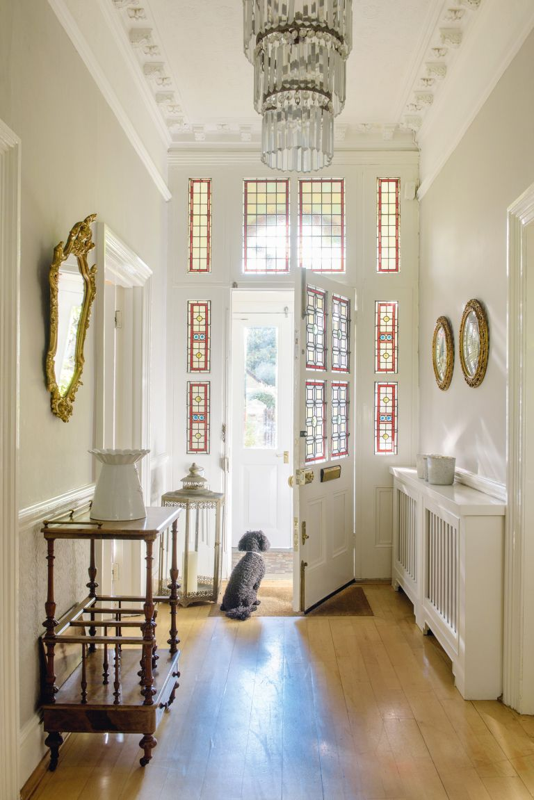 Feng shui your home: stain glass hallway windows in a south London Victorian house