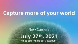 The launch invite for Sony's new camera