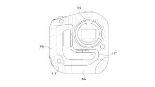 Canon one-handed grip patent