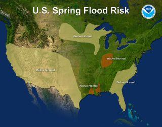 U.S. Spring Flood Risk Map for 2012.