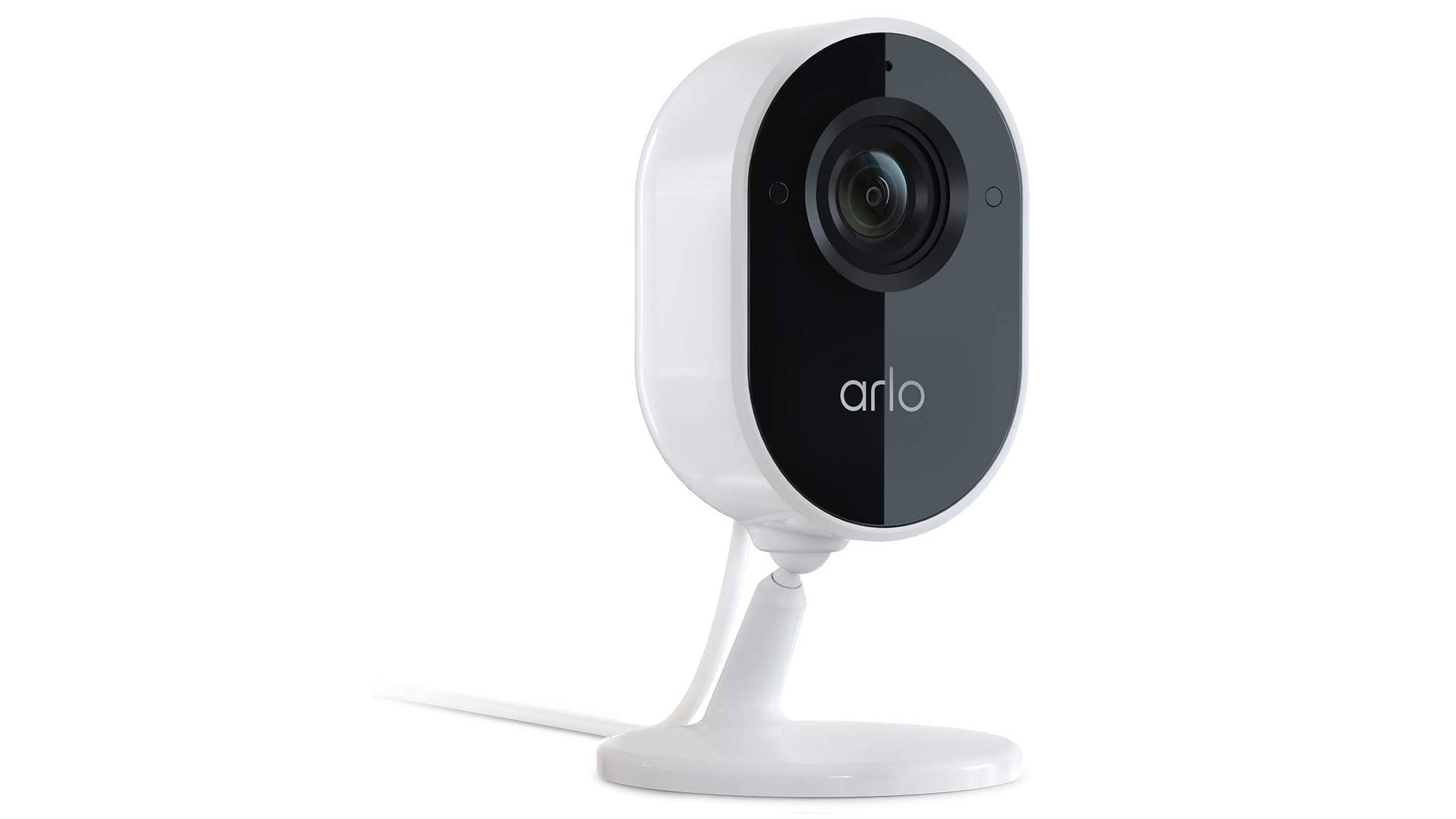 The Arlo Essential Indoor Camera on a white background