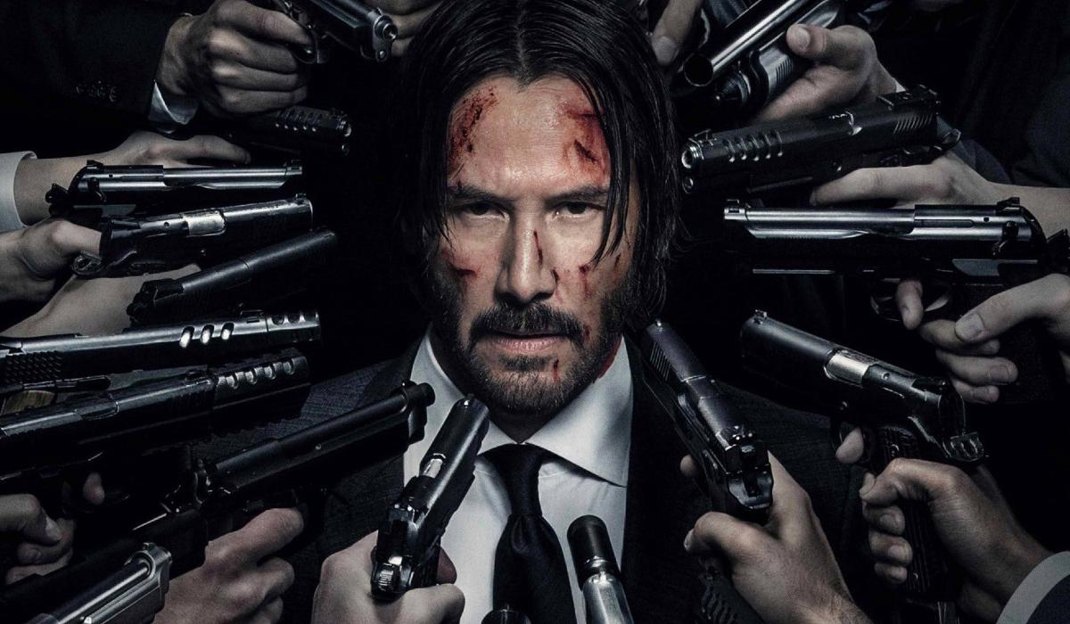 John Wick: Chapter 2 John surrounded by many guns