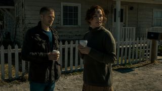 Zach Gilford and Kate Siegel in Midnight Mass
