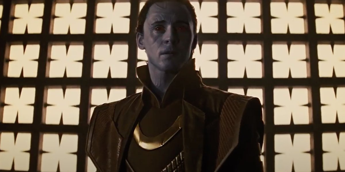 Tom Hiddleston as Loki as a Frost Giant in Thor