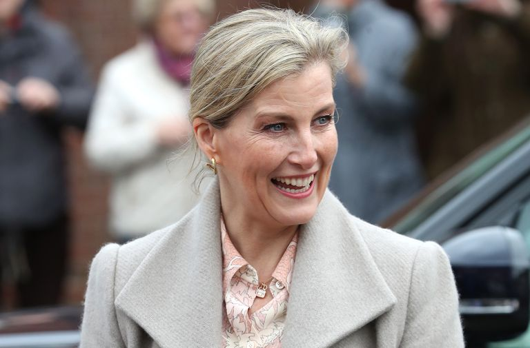sophie countess wessex stuns skinny jeans special hospital appearance
