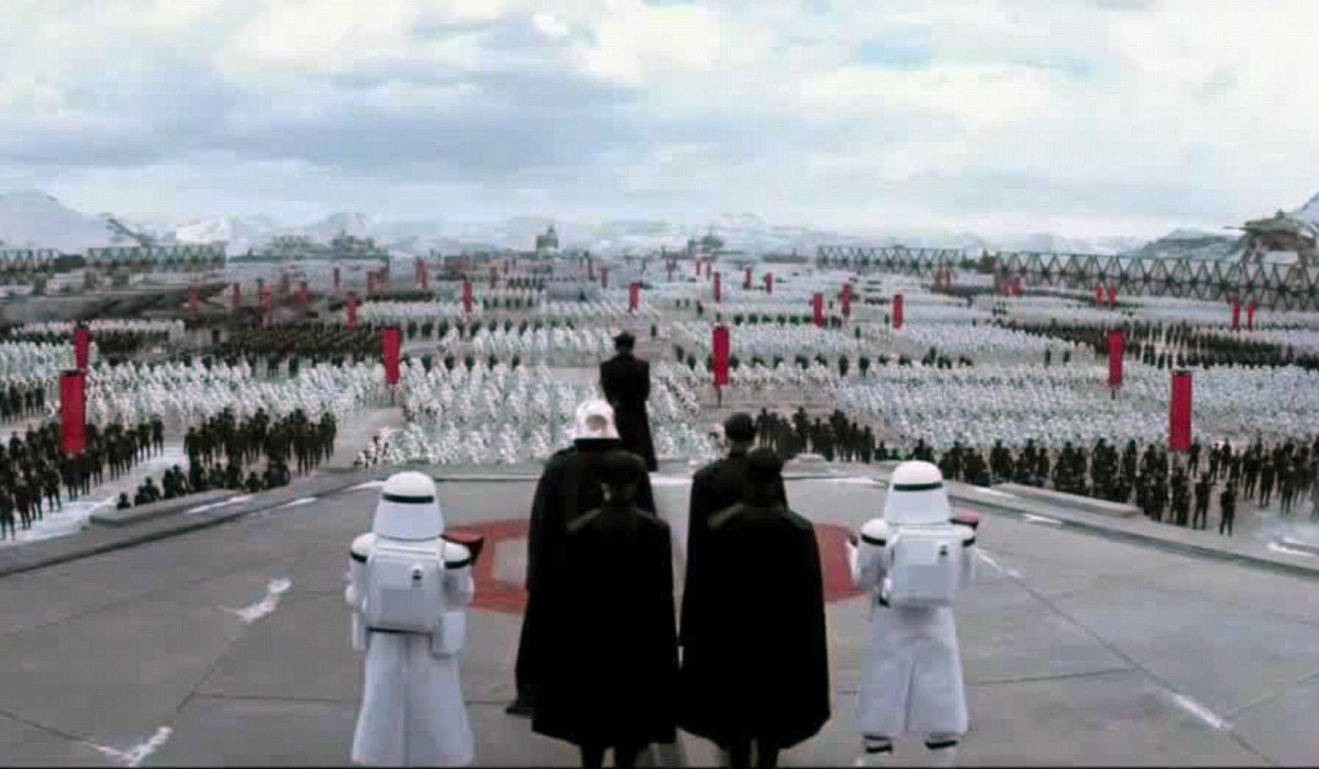 Hux addressing the First Order Star Wars