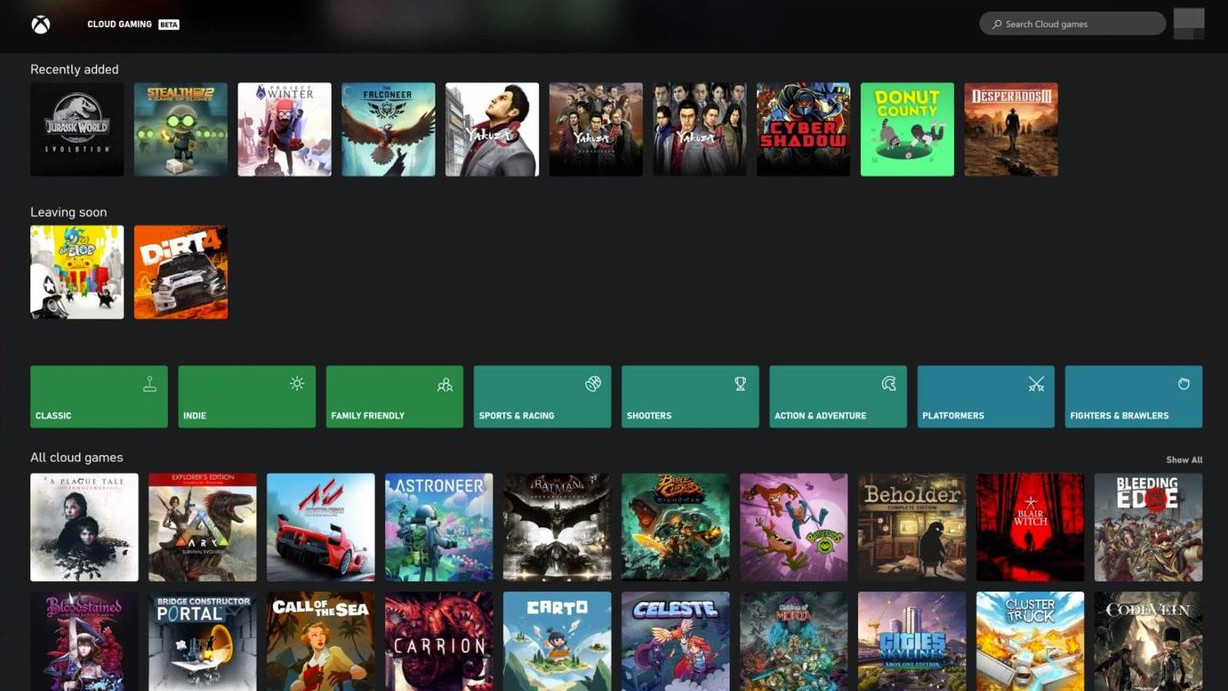There's a way to get xCloud running on Windows 10 and stream Xbox games