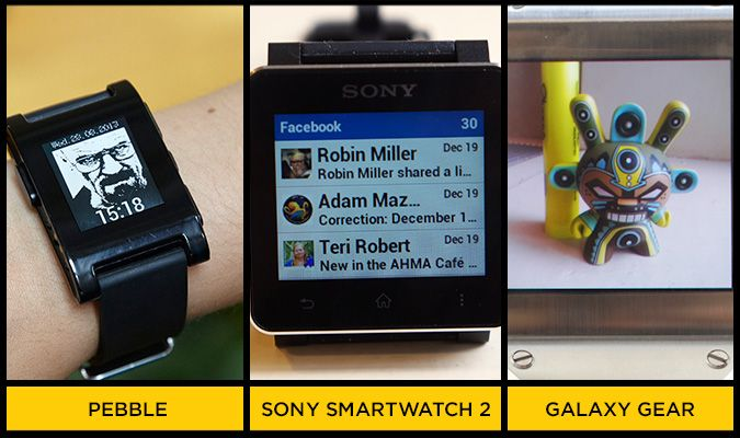 Pebble vs  Sony SmartWatch 2 vs  Galaxy Gear - Tom's Guide