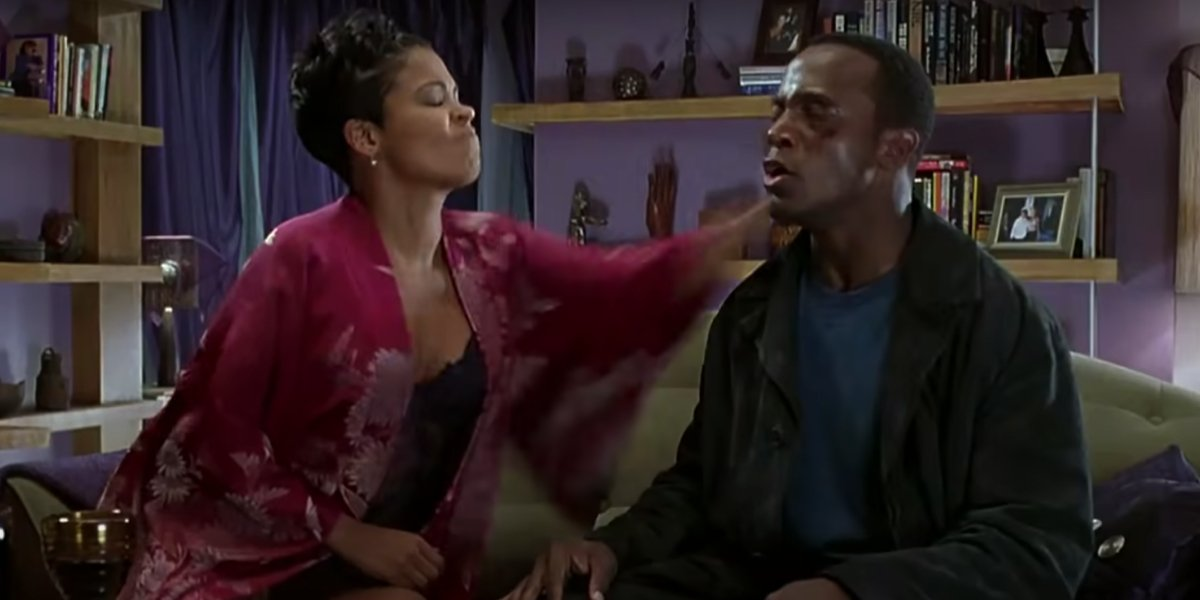 Nia Long and Taye Diggs in The Best Man