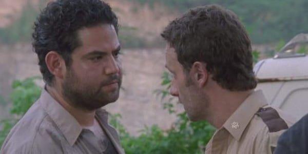 Morales saying goodbye to Rick