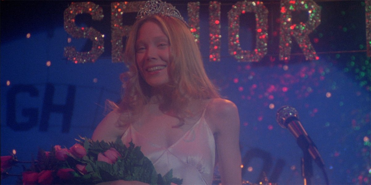Carrie (Sissy Spacek) is named queen of the prom in Carrie
