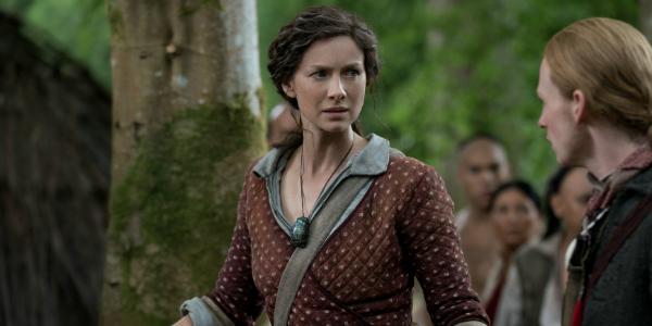 Outlander Claire Randall Fraser Caitriona Balfe Young Ian John Bell Starz