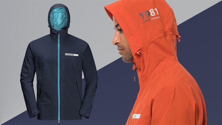 Jack Wolfskin Offshore jacket in orange and blue colourways