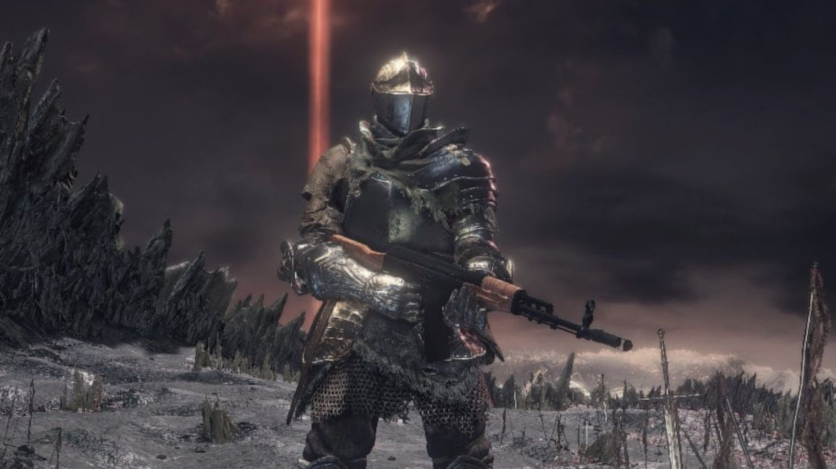 Dark Souls 3 with assault rifles is my new favorite easy mode