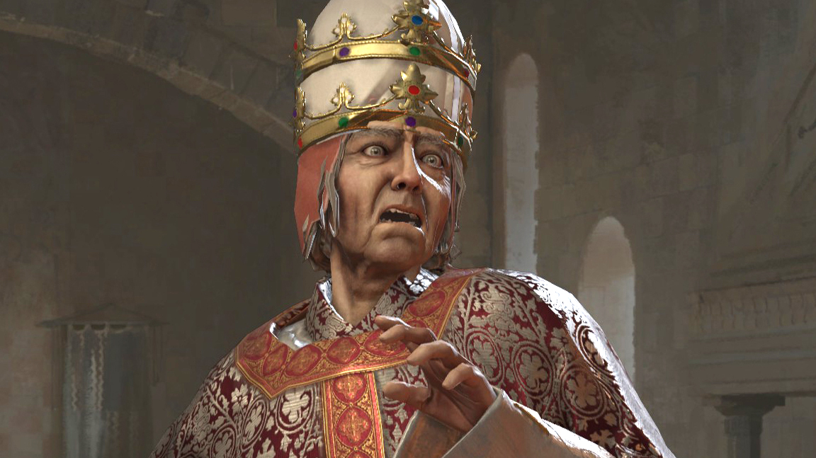 Crusader Kings 3 nerfs the Pope, makes it easier to imprison your kids, and stops crotch exposure